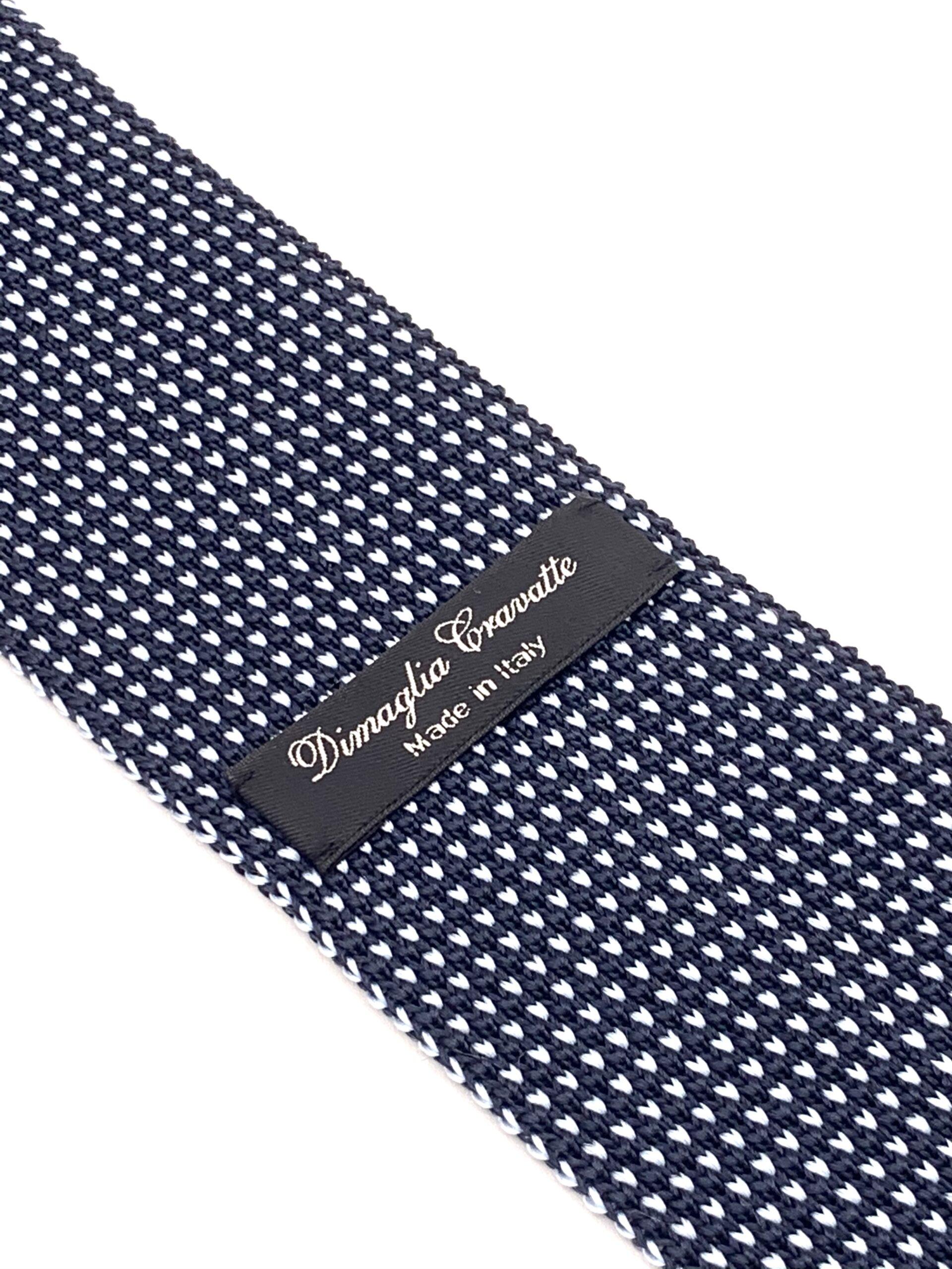 DIMAGLIA - cravatta di maglia blu e azzurro zoom