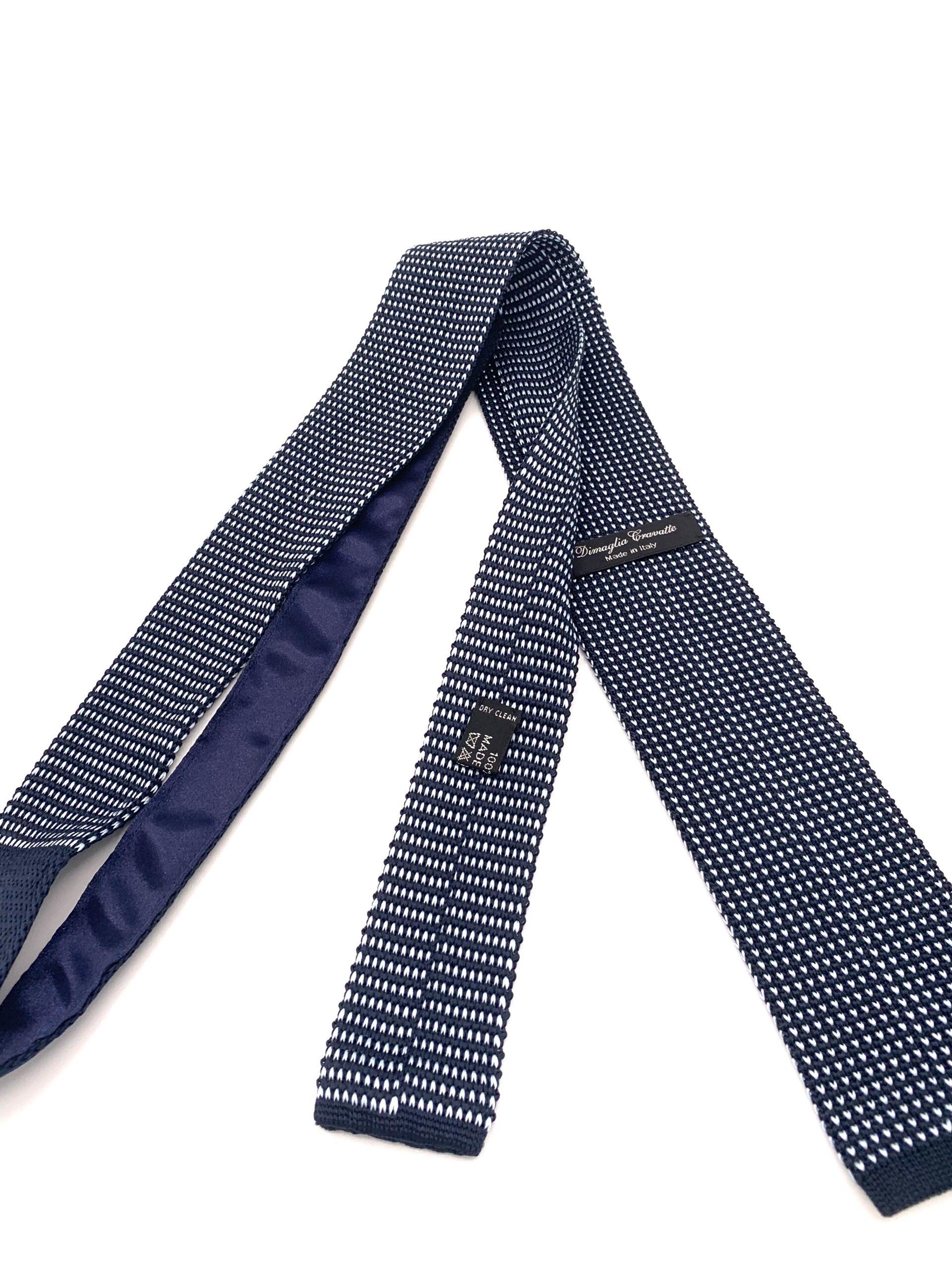DIMAGLIA - cravatta di maglia blu azzurro retro