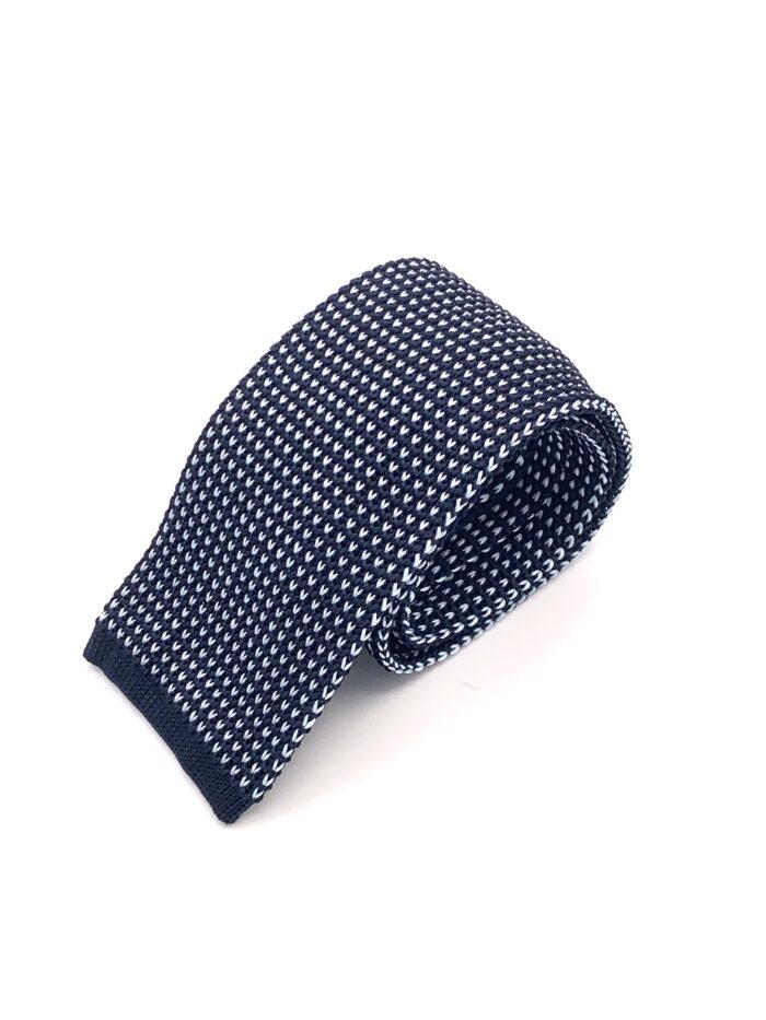 DIMAGLIA - cravatta di maglia blu e azzurro