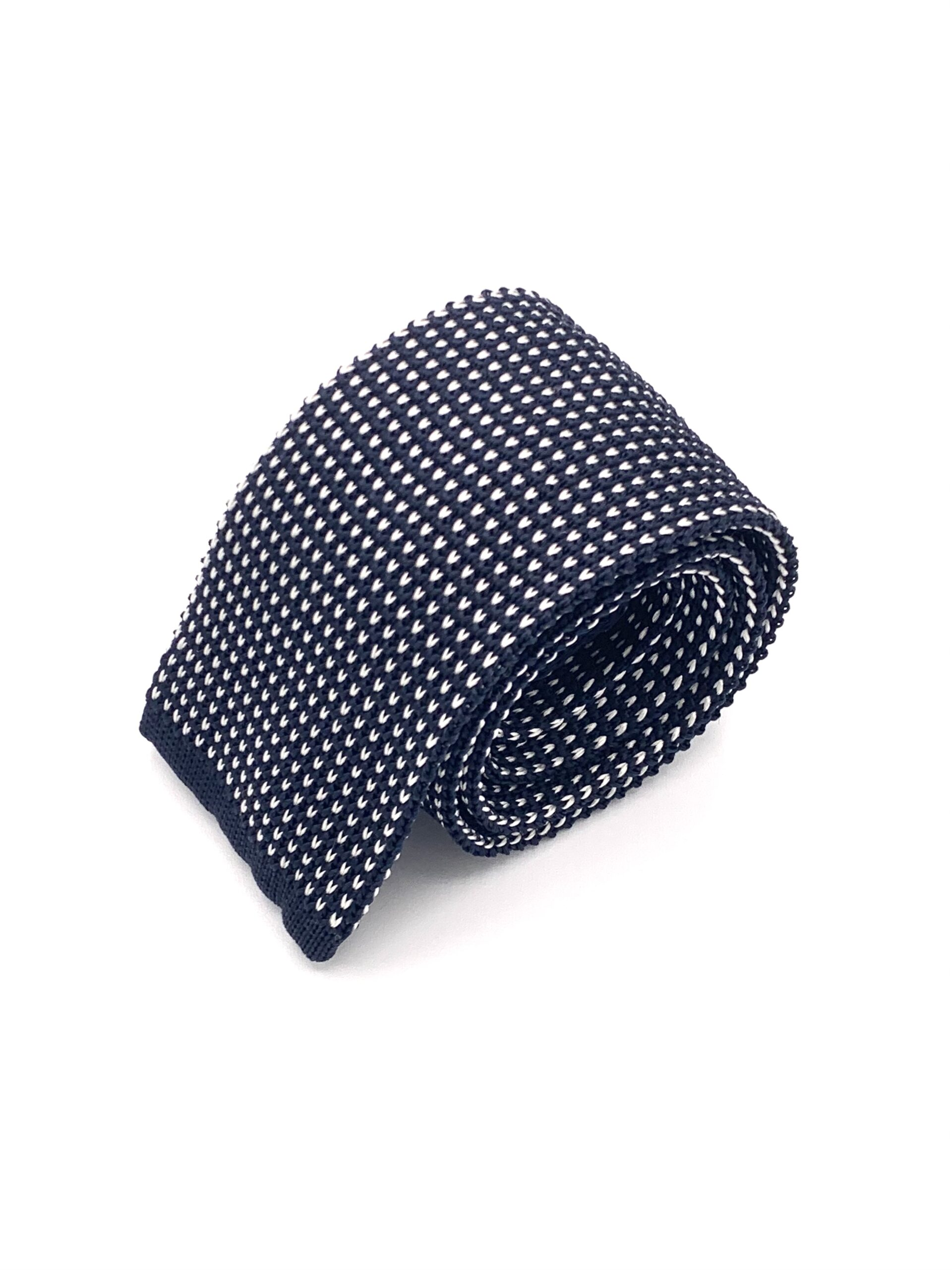 DIMAGLIA - cravatta di maglia blu e grigia