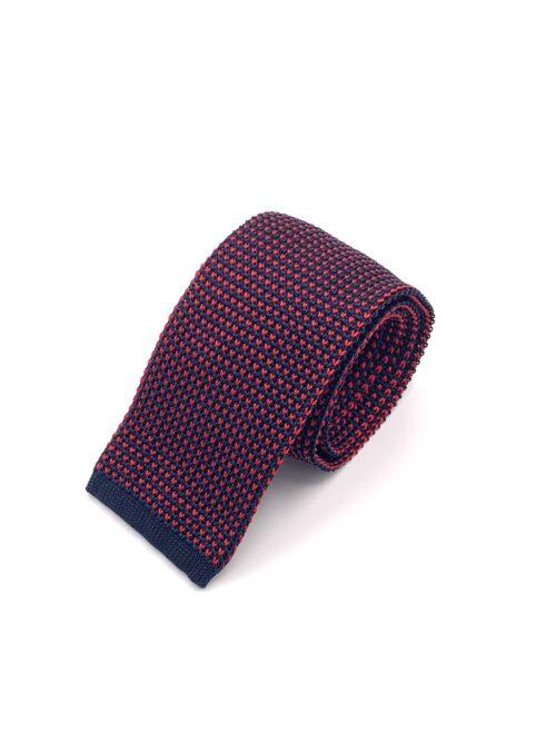 DIMAGLIA - cravatta di maglia con puntini